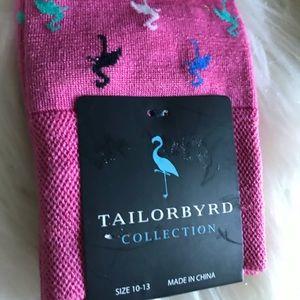 Tailorbyrd flamingos pink socks